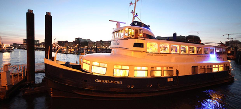 Silvester auf dem Schiff Grosser Michel  1