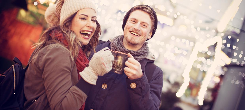 Winter-Weihnachtslandschaft mit Aussicht 1