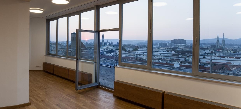 Panoramaraum im Hochhaus Herrengasse 7
