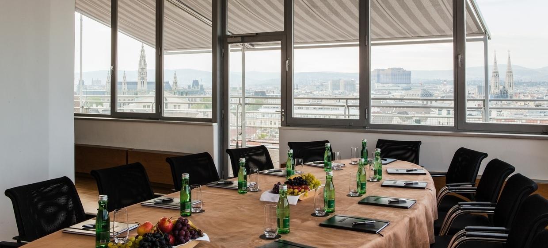 Panoramaraum am Dach des Hochhaus Herrengasse 5