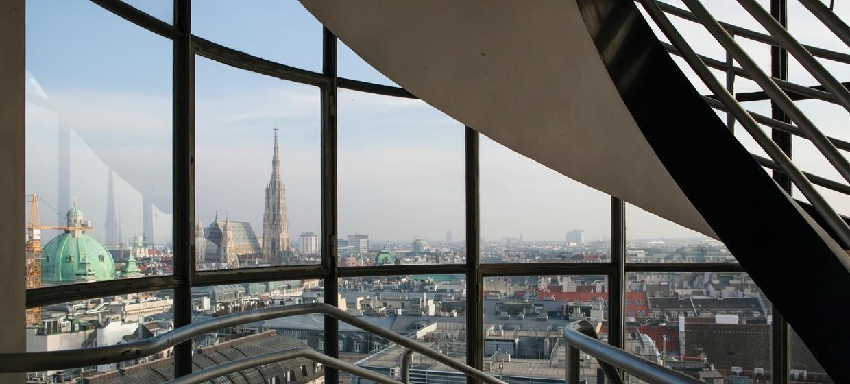 Panoramaraum im Hochhaus Herrengasse 3