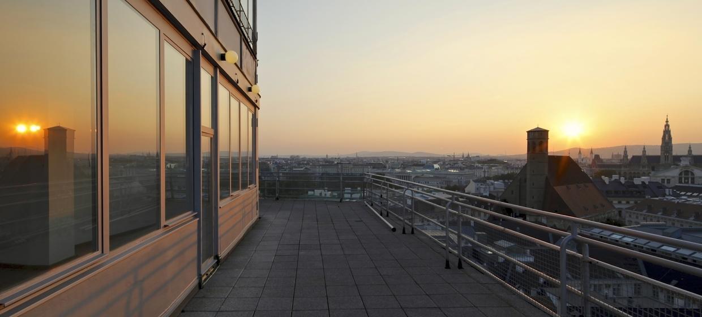 Panoramaraum im Hochhaus Herrengasse 10