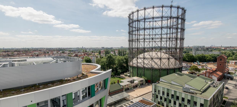 Euref-Campus: Kuppelzelt im Gasometer 10