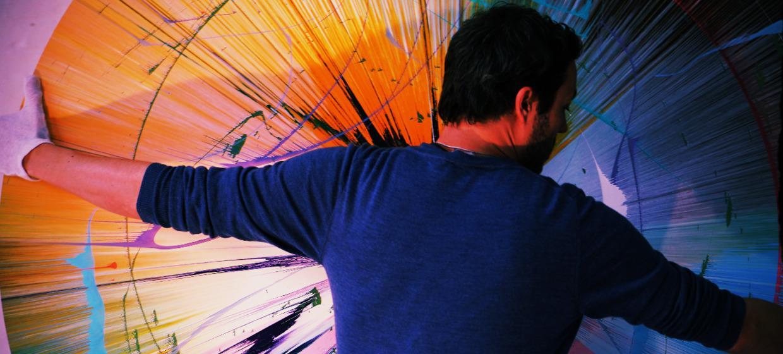 Spin Painting für Familien, Freunde und Paare 12