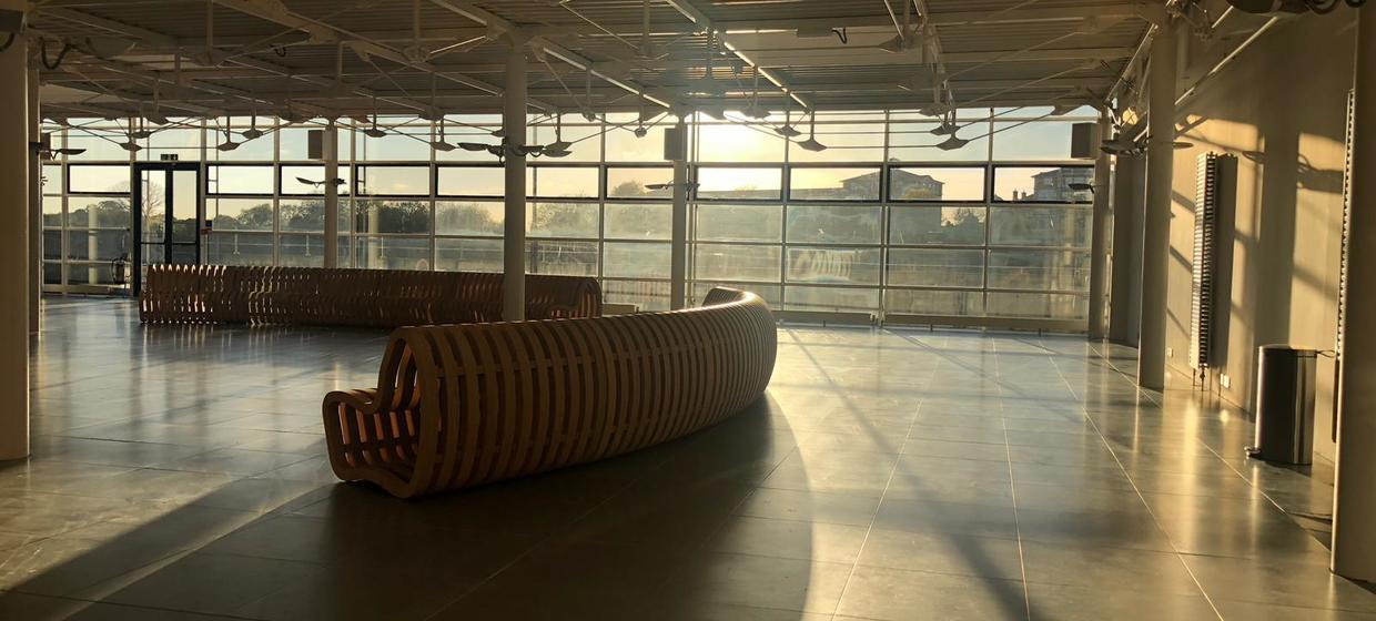 Bright and open riverside event space  9