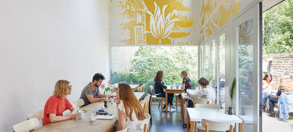 A Contemporary Restaurant-Cafe with Walled Garden 3