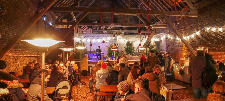 Weihnachtsfeier in der Weihnachtsscheune von Schloss Türnich 1