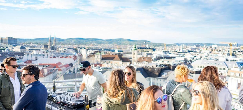 Panoramaraum am Dach des Hochhaus Herrengasse 12