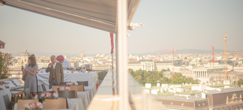 Panoramaraum am Dach des Hochhaus Herrengasse 10