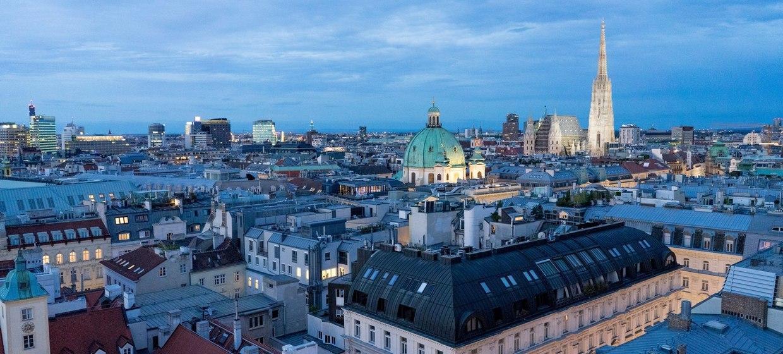 Panoramaraum am Dach des Hochhaus Herrengasse 14